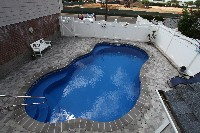 Rio Fiberglass Pool in Shrewsbury, MA