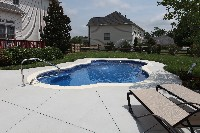 Rio Fiberglass Pool in Southborough, MA